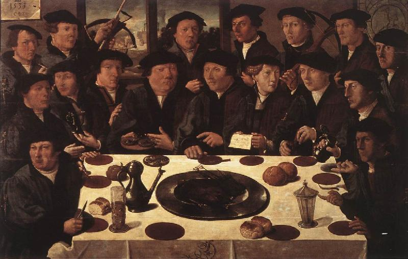 ANTHONISZ  Cornelis Banquet of Members of Amsterda  s Crossbow Civic Guard France oil painting art