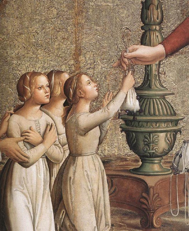 ANTONIAZZO ROMANO Annunciation (detail)  hgh France oil painting art