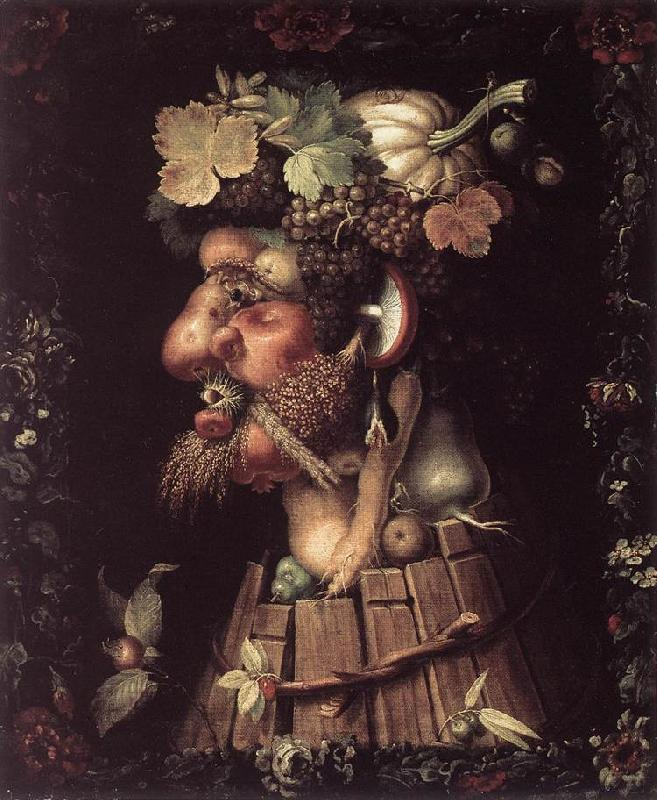 ARCIMBOLDO, Giuseppe Autumn  fdfh France oil painting art