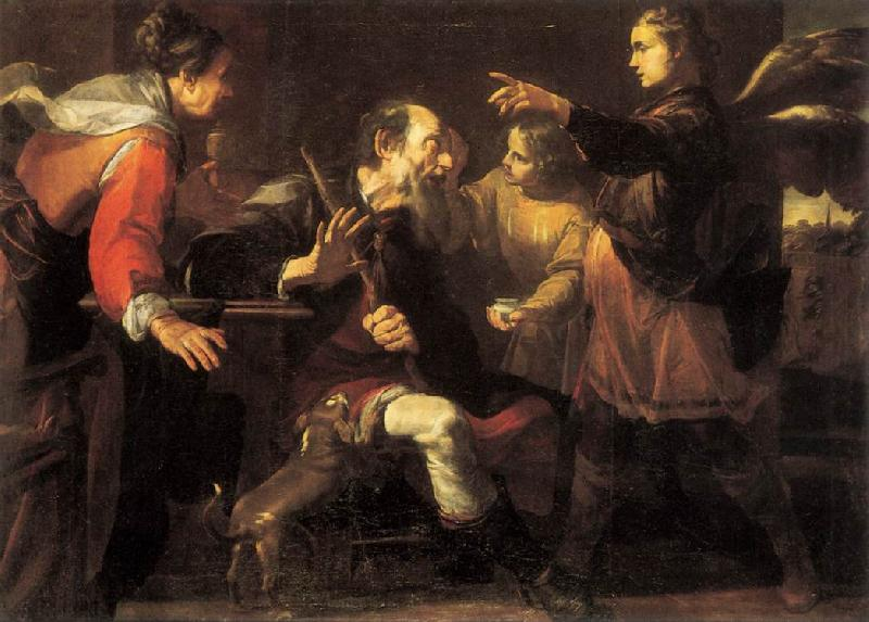 ASSERETO, Gioachino Tobias Healing the Blindness of His Father ff oil painting image