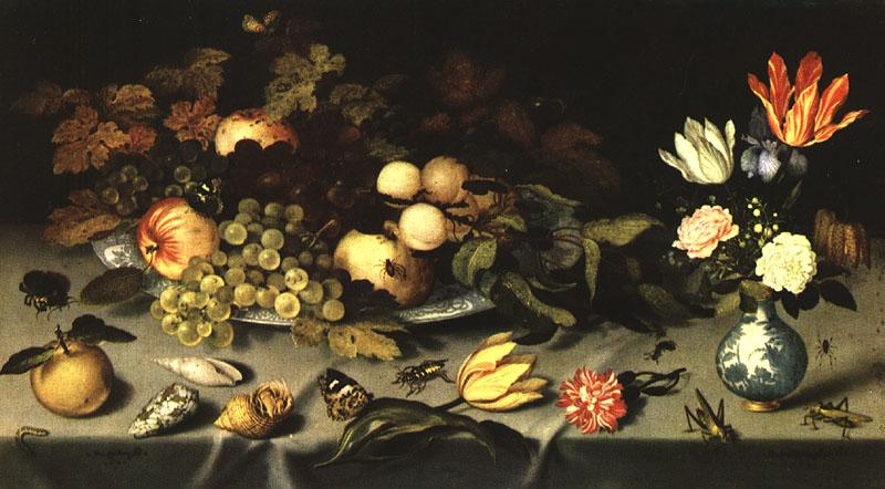 AST, Balthasar van der Flowers and Fruit  fg France oil painting art