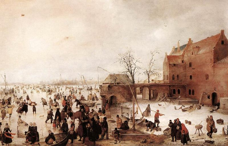 AVERCAMP, Hendrick A Scene on the Ice near a Town fg France oil painting art