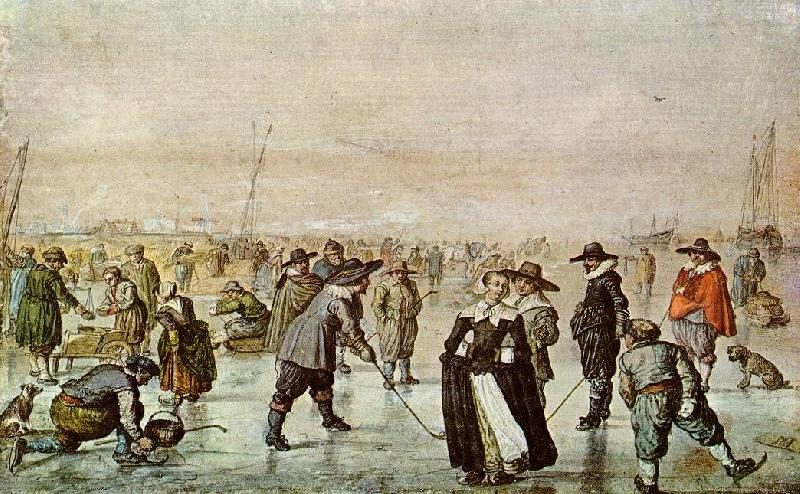 AVERCAMP, Hendrick A Scene on the Ice vf oil painting image