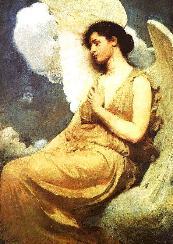 Abbot H Thayer Winged Figure France oil painting art