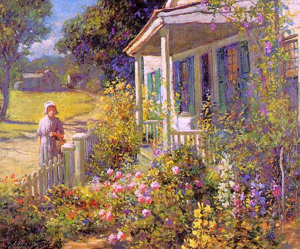 Abbott Fuller Graves Summer Garden oil painting image