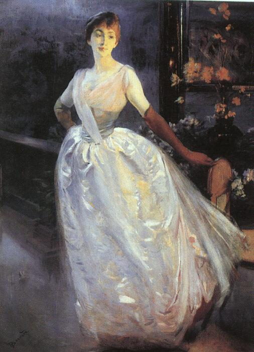 Albert Besnard Portrait of Madame Roger Jourdain oil painting image