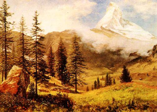 Albert Bierstadt The Matterhorn oil painting image