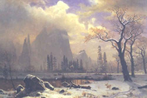 Albert Bierstadt Yosemite Winter Scene oil painting image