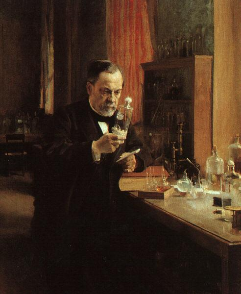 Albert Edelfelt Portrait of Louis Pasteur oil painting image