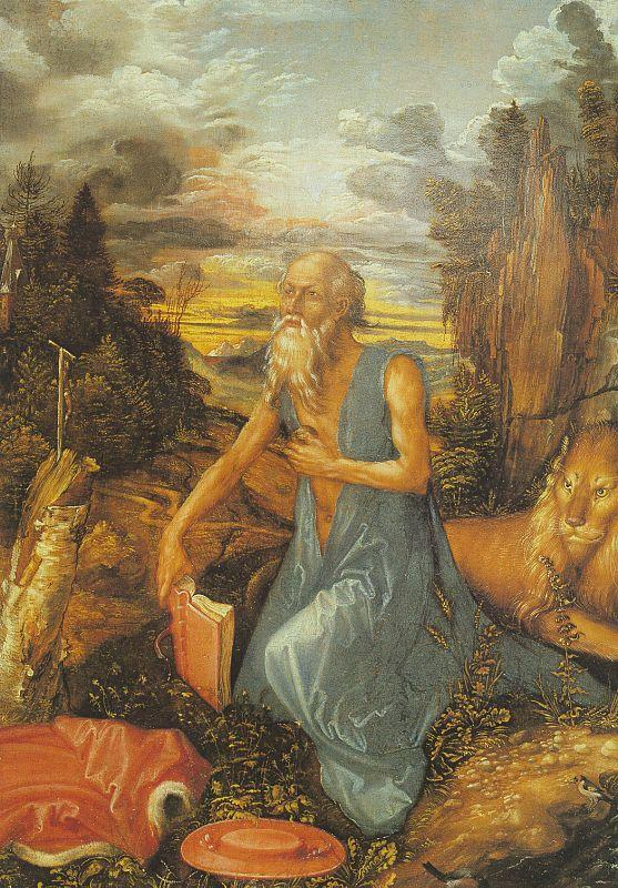 Albrecht Durer St.Jerome in the Wilderness oil painting image