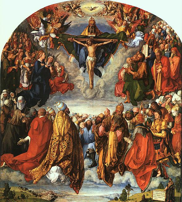 Albrecht Durer Adoration of the Trinity oil painting image