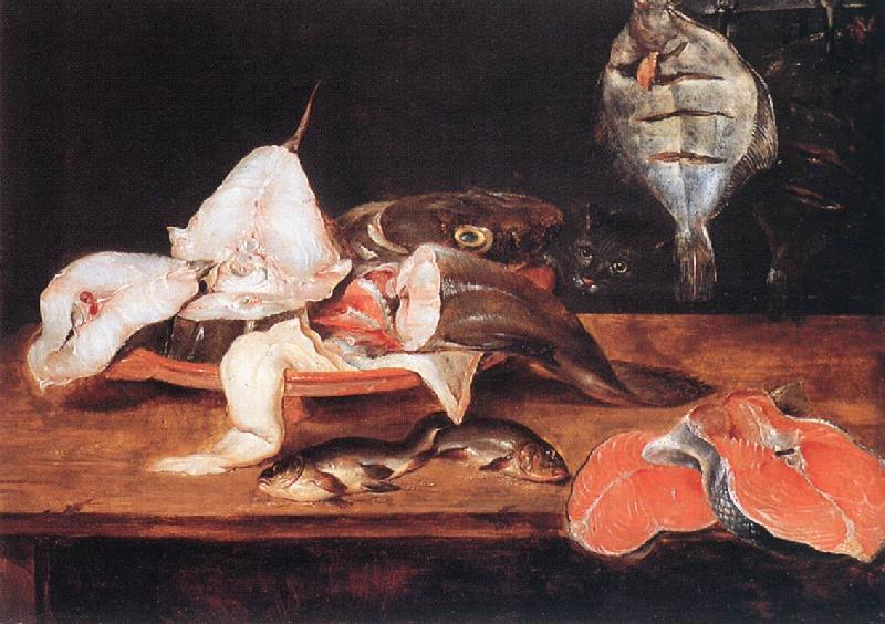 Alexander Still-Life with Fish France oil painting art