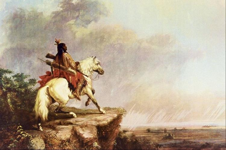 Alfred Jacob Miller Indian Scout France oil painting art