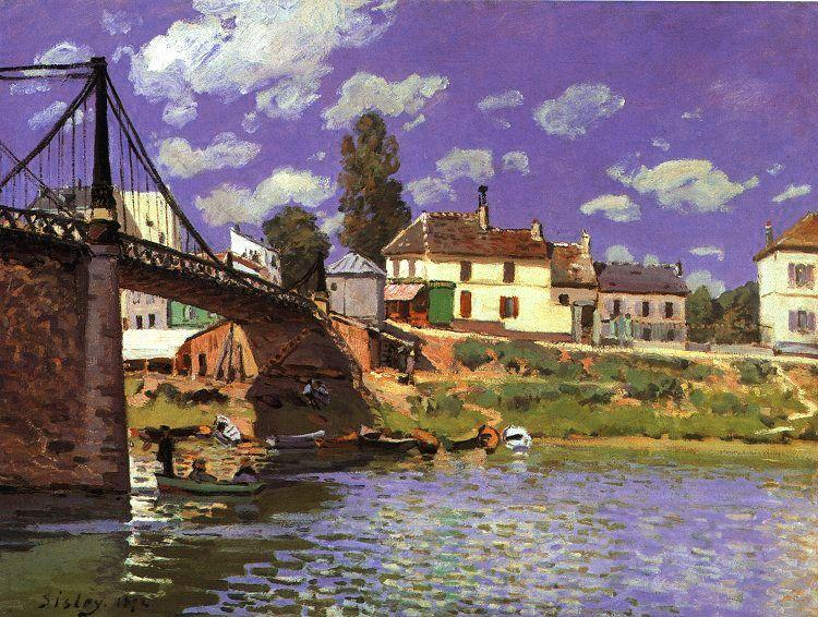 Alfred Sisley The Bridge at Villeneuve la Garenne oil painting image