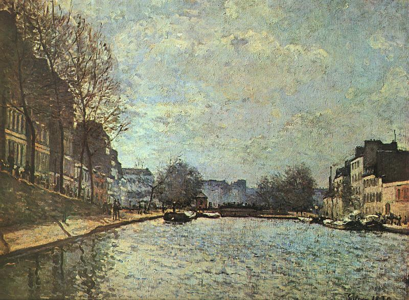 Alfred Sisley The St.Martin Canal France oil painting art