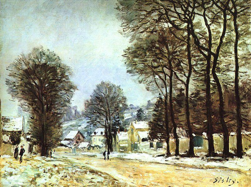 Alfred Sisley Snow at Louveciennes France oil painting art