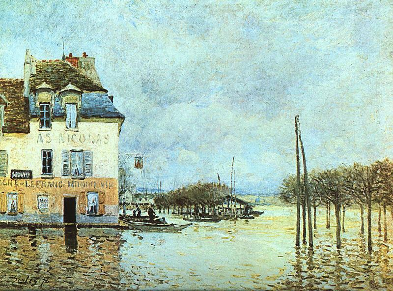 Alfred Sisley Flood at Pont-Marley France oil painting art