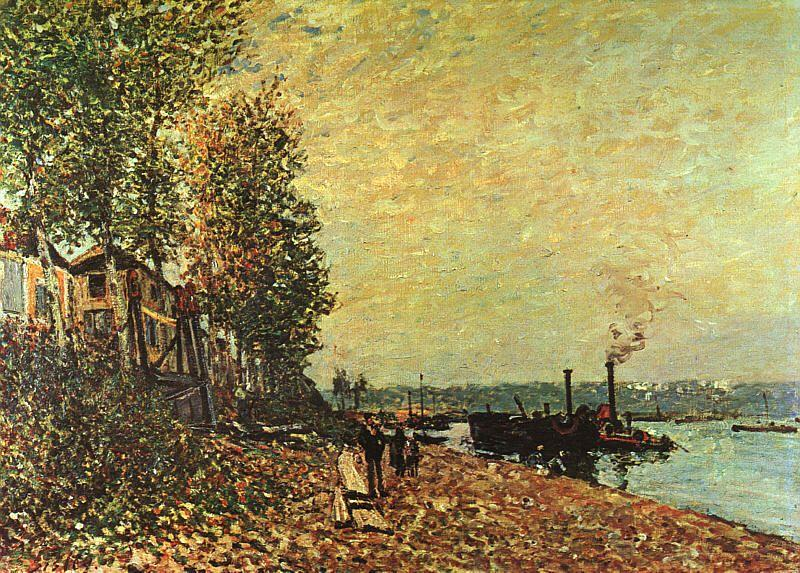 Alfred Sisley The Tugboat oil painting image