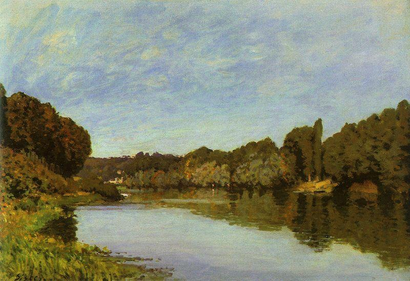 Alfred Sisley The Seine at Bougival France oil painting art