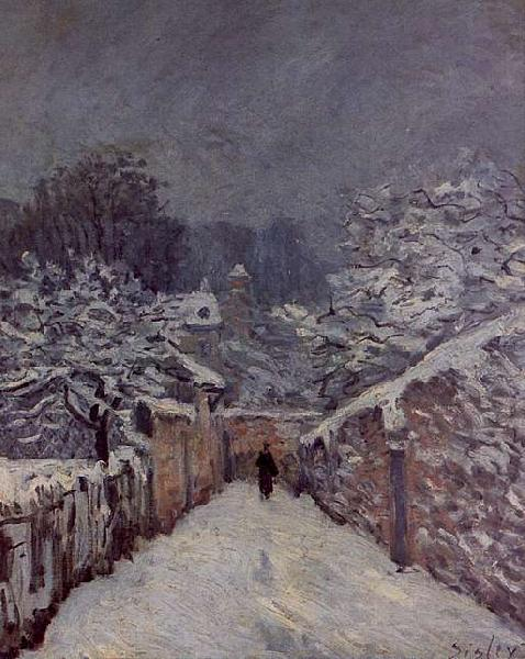 Alfred Sisley Snow at Louveciennes oil painting image