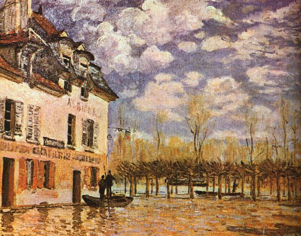 Alfred Sisley Boat During a Flood oil painting image