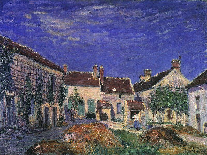 Alfred Sisley A Farmyard near Sablons France oil painting art
