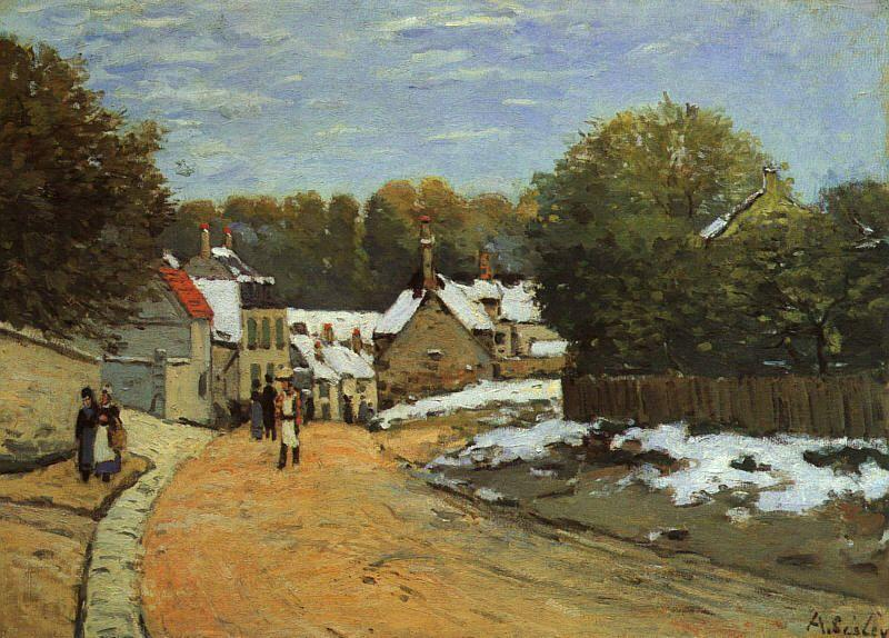 Alfred Sisley Early Snow at Louveciennes France oil painting art