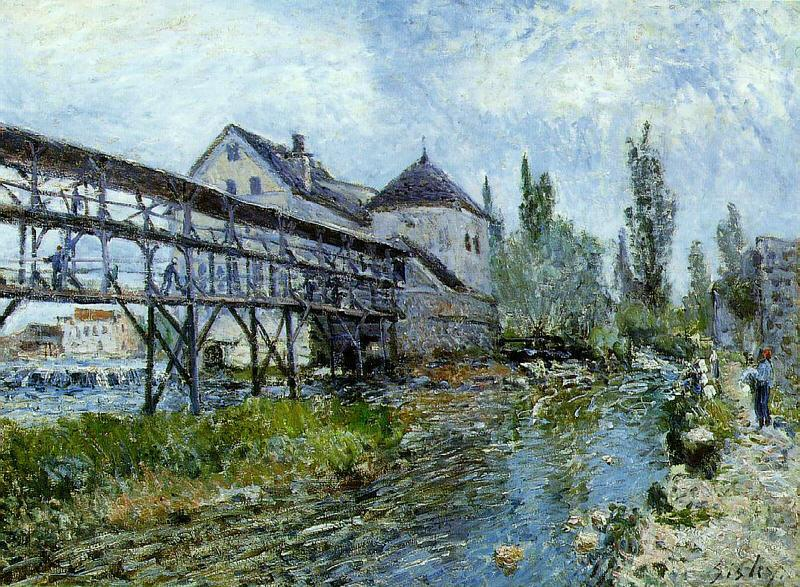 Alfred Sisley Provencher's Mill at Moret France oil painting art