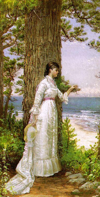 Alfred Thompson Bricher Under The Seaside Tree oil painting image