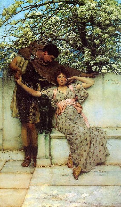 Alma Tadema Promise of Spring oil painting image