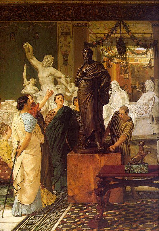 Alma Tadema A Sculpture Gallery oil painting image