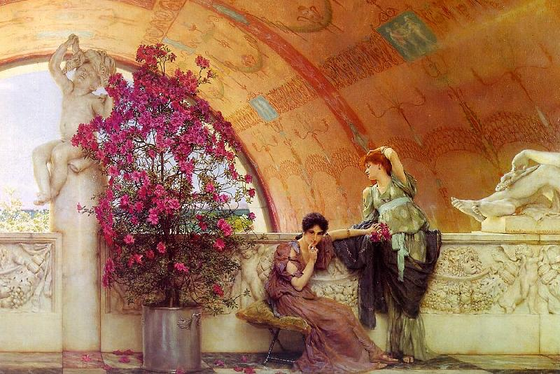 Alma Tadema Unconscious Rivals oil painting image