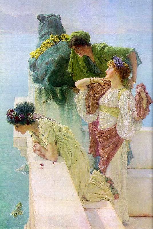 Alma Tadema Advantageous Position oil painting picture