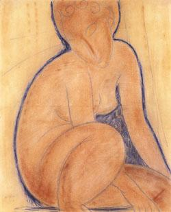 Amedeo Modigliani Crouched Nude oil painting image