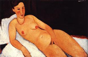 Amedeo Modigliani Nude with Coral Necklace oil painting image