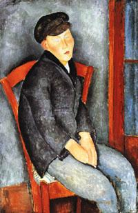 Amedeo Modigliani Young Seated Boy with Cap oil painting image
