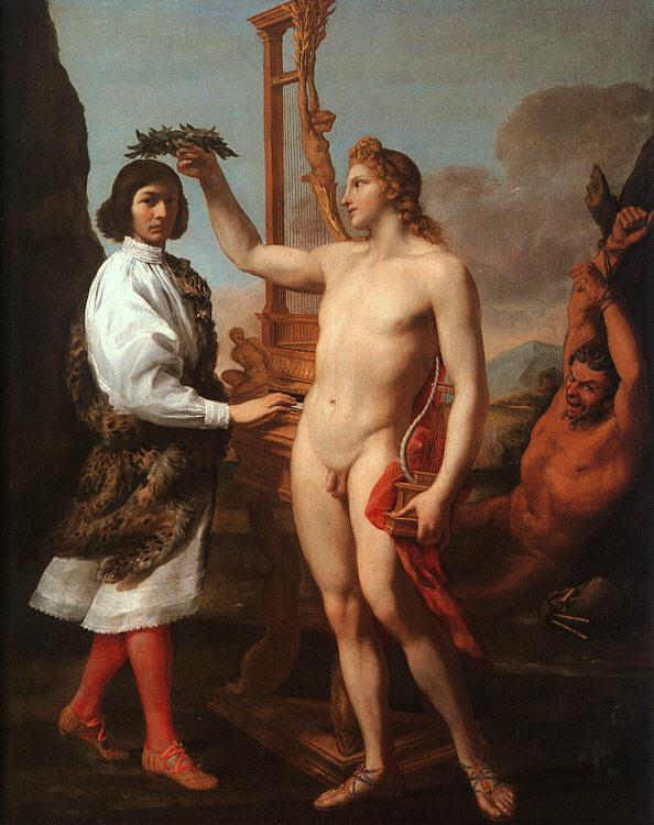 Andrea Sacchi Marcantonio Pasquilini Crowned by Apollo France oil painting art