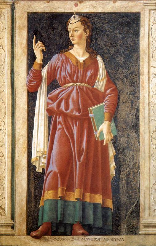 Andrea del Castagno The Cumean Sibyl France oil painting art
