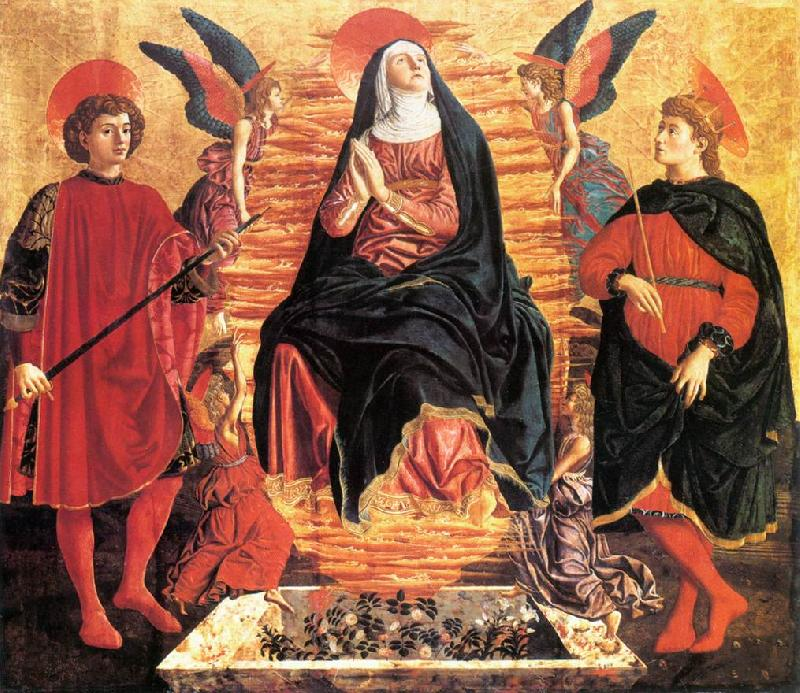 Andrea del Castagno Our Lady of the Assumption with Sts Miniato and Julian France oil painting art
