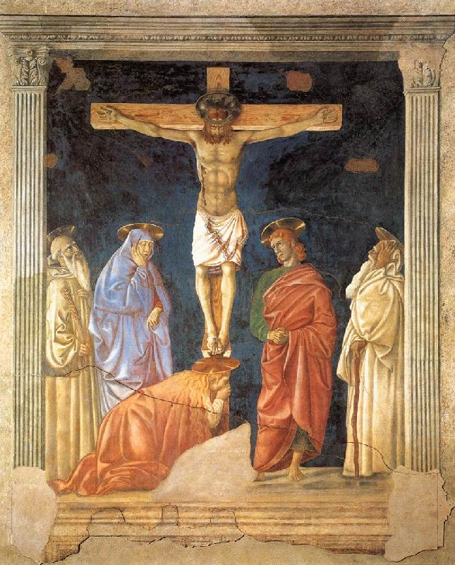 Andrea del Castagno Crucifixion and Saints France oil painting art