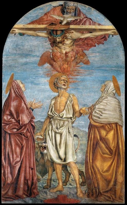 Andrea del Castagno The Holy Trinity, St Jerome and Two Saints France oil painting art