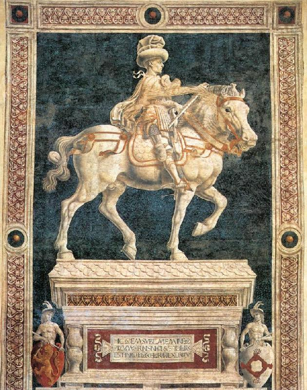 Andrea del Castagno Monument to Niccolo  da Tolentino France oil painting art