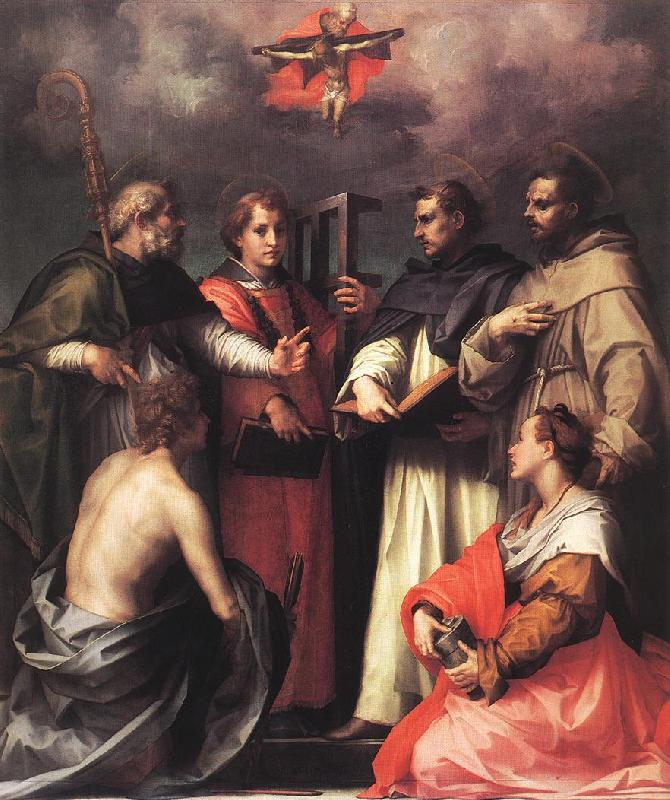 Andrea del Sarto Disputation over the Trinity France oil painting art