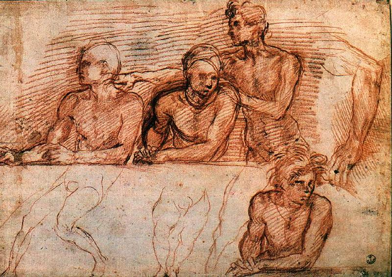 Andrea del Sarto Last Supper (study) gfgggf France oil painting art