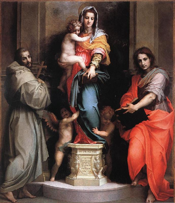 Andrea del Sarto Madonna of the Harpies fdf oil painting image
