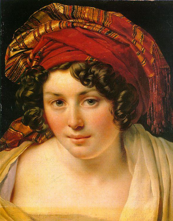 Anne-Louis Girodet-Trioson A Woman in a Turban oil painting image