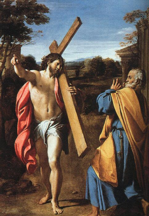 Annibale Carracci Christ Appearing to Saint Peter on the Appian Way oil painting image