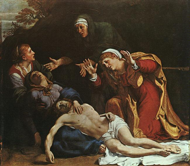 Annibale Carracci The Dead Christ Mourned oil painting image