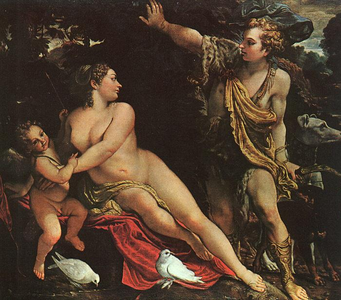 Annibale Carracci Venus, Adonis and Cupid oil painting image