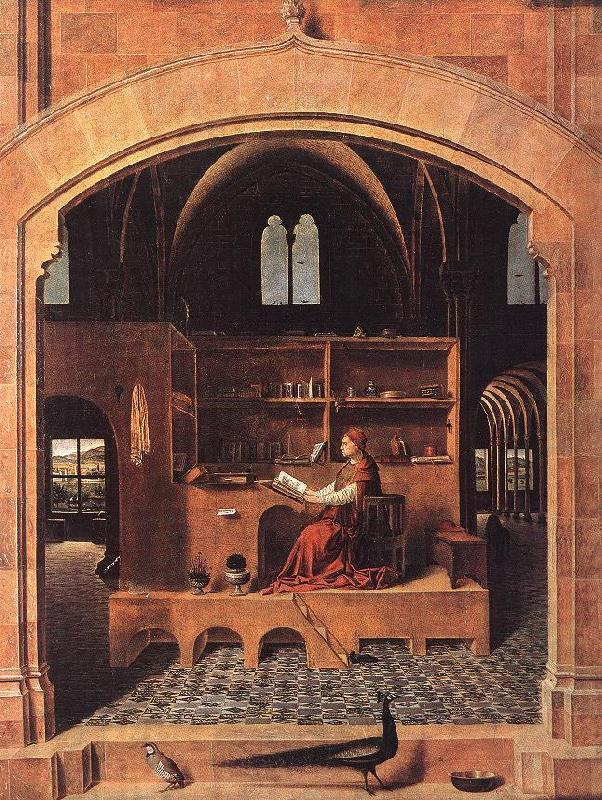 Antonello da Messina St Jerome in his Study France oil painting art